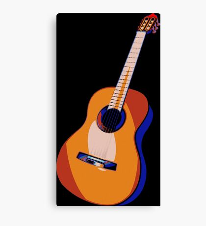 Guitar of Colors Canvas Print