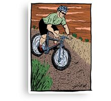 Mountain Biking On Corral Loop Canvas Print