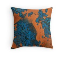 Copper Blue Throw Pillow