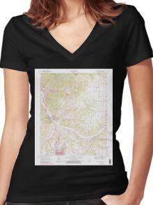 USGS TOPO Map Arkansas AR Bentonville North 257977 1970 24000 Women's Fitted V-Neck T-Shirt