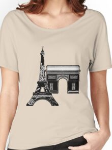 Graphic Paris Women's Relaxed Fit T-Shirt