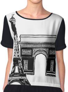 Graphic Paris Chiffon Top