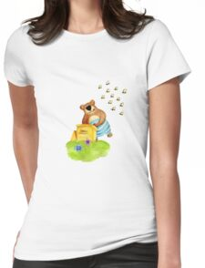 Bear & Bees Womens Fitted T-Shirt