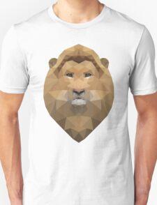 Low Poly Lion Head Unisex T-Shirt