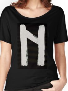 Anglo-Saxon Futhorc hægl hail precipitation h Inverted Women's Relaxed Fit T-Shirt