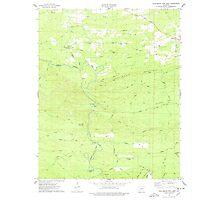 USGS TOPO Map Arkansas AR Chalybeate Mtn West 258175 1975 24000 Photographic Print