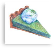 matcha white chocolate tart illustration Canvas Print