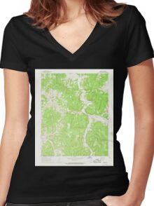 USGS TOPO Map Arkansas AR Osage 259323 1968 24000 Women's Fitted V-Neck T-Shirt
