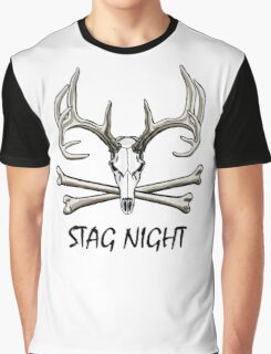 Stag Night Graphic T-Shirt