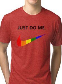 Just Do Me Rainbow Swoosh (Light) Tri-blend T-Shirt