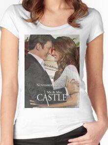 Caskett Wedding Women's Fitted Scoop T-Shirt