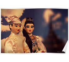 Burmese Bride and Groom Poster