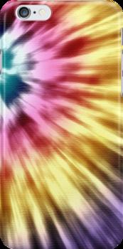 Abstract Purple Tie Dye by perkinsdesigns