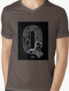 MAPHABET Q: Quebec Mens V-Neck T-Shirt