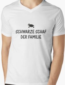 Schwarze Schaf der Familie Mens V-Neck T-Shirt