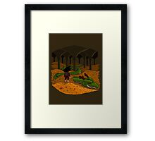 The Desolation of Shenron Framed Print