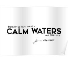 calm waters all our lives - jane austen Poster
