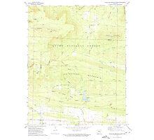 USGS TOPO Map Arkansas AR Chickalah Mountain West 258197 1972 24000 Photographic Print