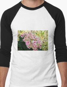 colored flowers in spring Men's Baseball ¾ T-Shirt