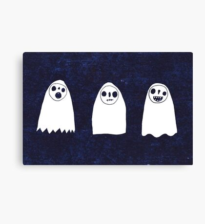 Three Spooky Ghosts Canvas Print