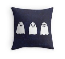 Three Spooky Ghosts Throw Pillow