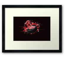 Detroit Red Wings Puck Framed Print