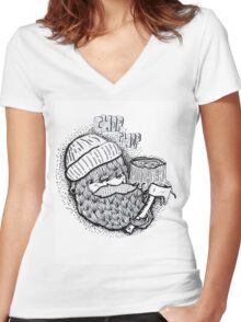 ChopChop Women's Fitted V-Neck T-Shirt
