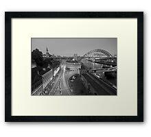 Sandhill, Newcastle upon Tyne at Dusk, Monochrome Framed Print