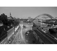 Sandhill, Newcastle upon Tyne at Dusk, Monochrome Photographic Print