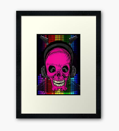 Skulls, Guitars and Rock and Roll! Framed Print