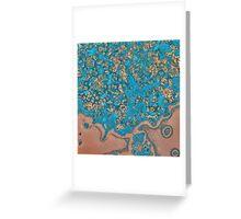 Teal Cream Swirl Greeting Card