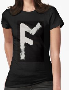 Anglo-Saxon Futhorc āc oak a Inverted Womens Fitted T-Shirt