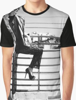 You Go Girl! // Fashion Girl Black And White Photography #trending #tapestry Graphic T-Shirt