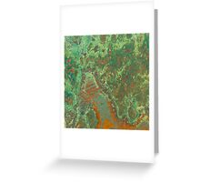 Green Copper Rust Greeting Card