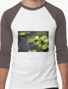 Camo Turtle At Amaru Men's Baseball ¾ T-Shirt