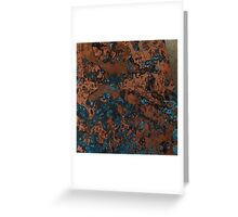 Brown Blue Copper Rust Greeting Card