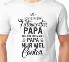 Tätowierter Papa Unisex T-Shirt