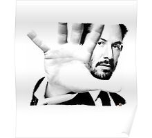 Keanu Reeves (Black and White Silent Attitude) Poster