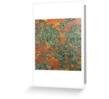 Green Rustic Copper Greeting Card