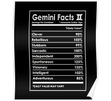 Gemini Facts T-Shirt Poster