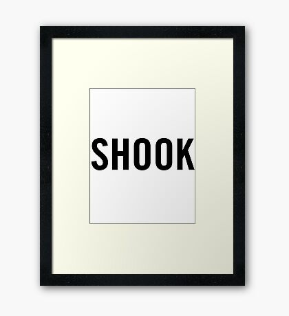 Shook (Black) Framed Print