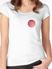 jesus loves you pink Women's Fitted Scoop T-Shirt