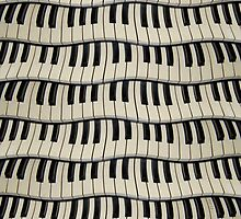 Rock And Roll Piano Keys by perkinsdesigns