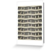 Rock And Roll Piano Keys Greeting Card