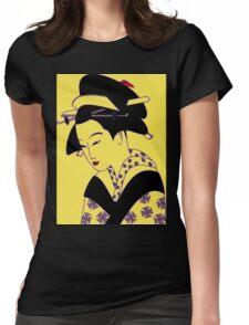 Geisha Portrait Womens Fitted T-Shirt