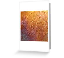 Geometric Copper Greeting Card