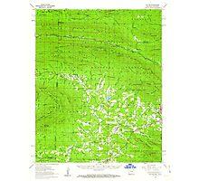 USGS TOPO Map Arkansas AR Potter 260255 1958 62500 Photographic Print