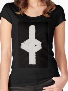Anglo-Saxon Futhorc gēr year harvest j Inverted Women's Fitted Scoop T-Shirt