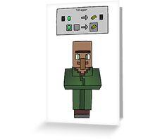 Green Villager Greeting Card