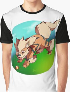 Arcanine catching a fire ball Graphic T-Shirt